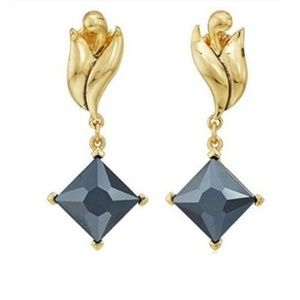 Badgley Mischka Swirl Square Drop Earrings